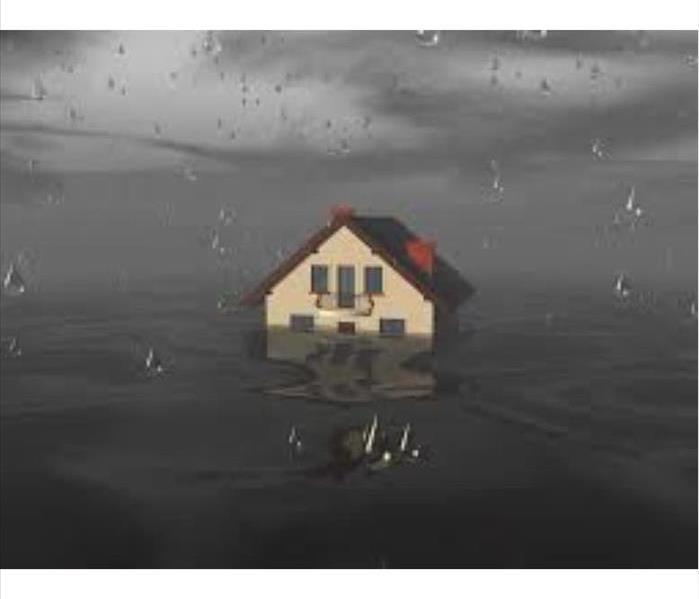 Home Surrounded by Water