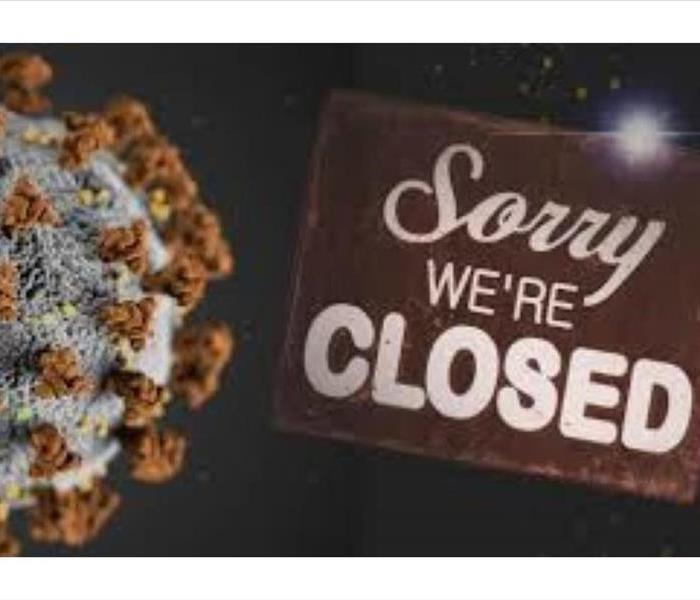 "Corona Virus Molecule ""Sorry We're Closed"""